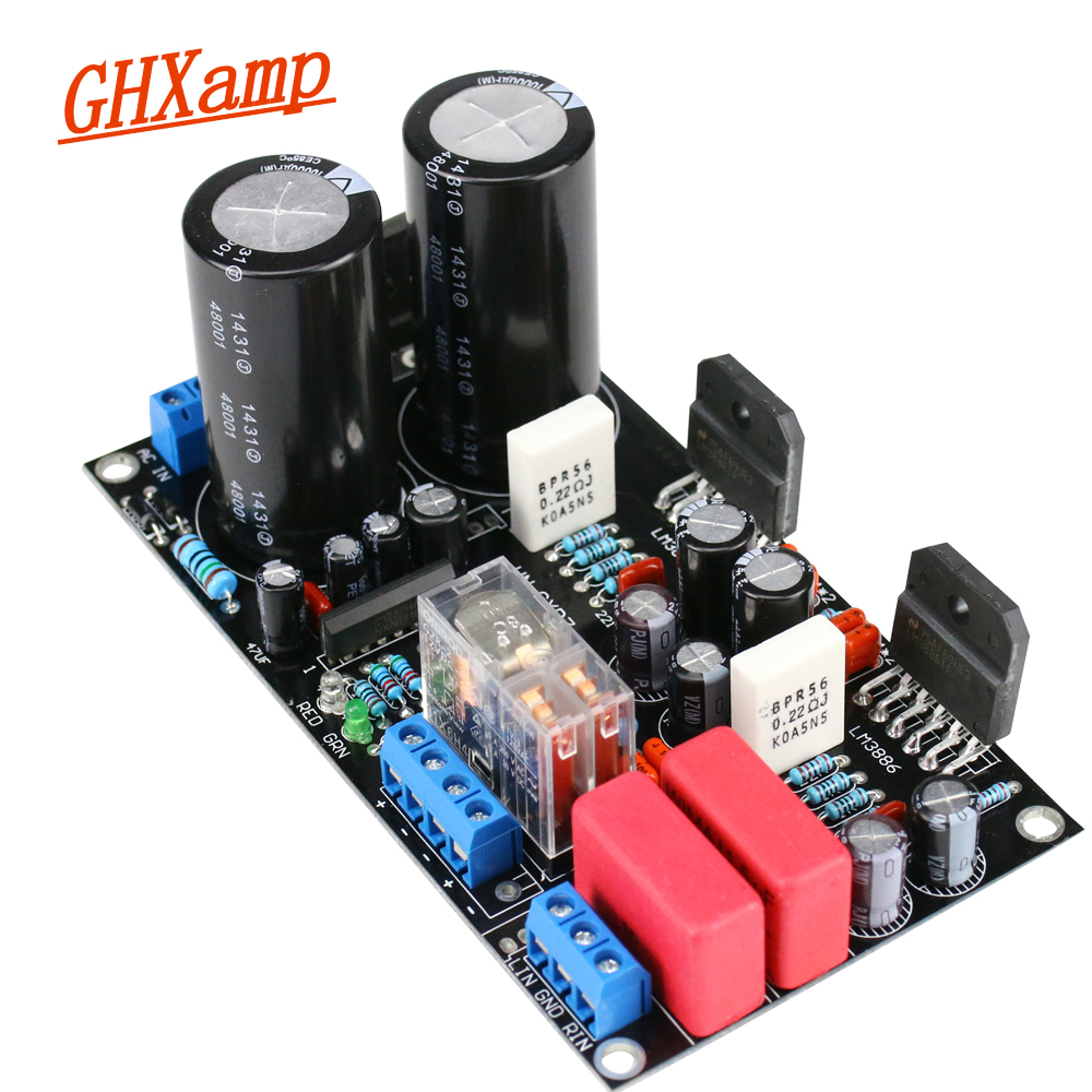 GHXAMP Newest LM3886 Amplifier Board 45W+45W 2.0 with Speaker Protection High Power 4-8Ohm Speaker AC Dual 22v-26v 1PC audio lm3886 amplifier board diy kit amp for hifi with speaker protection dual 18 26v