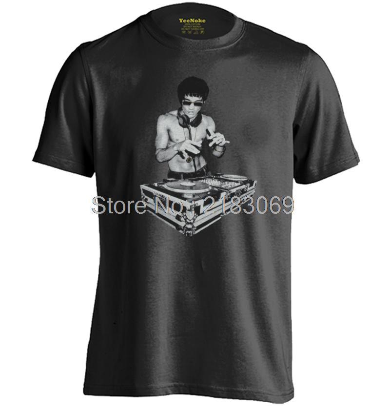 DJ Bruce Lee Mens Womens Personalized Rock T Shirt Short Sleeve T Shirt