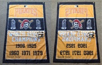 Pittsburgh Pirates World Series Champions Flag 3ft X 5ft Polyester MLB Banner Flying Size No 4