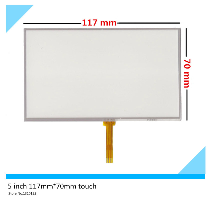 2 pcs 5 inch 4 wire 117mm*70mm Resistive Touch Screen Digitizer for GPS navigator MP4 Car navigation DVD touch panel Glass