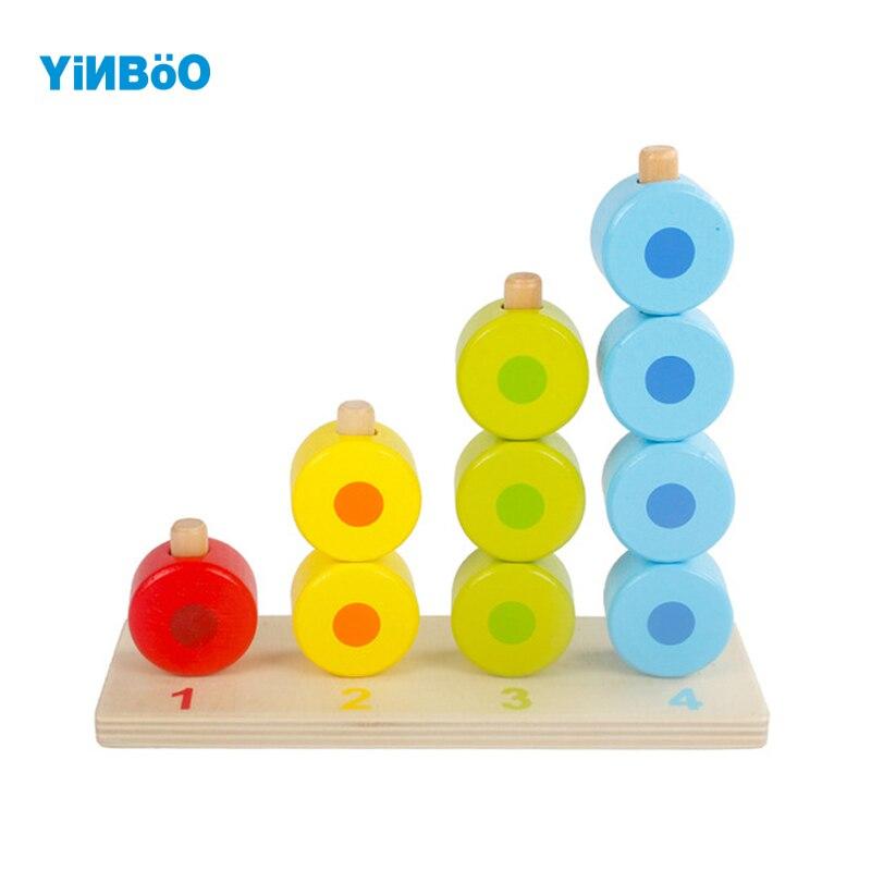Детские игрушки деревянные блок 1-4 года digitals многоцветный строительные блоки Монтессори образование аппараты для обучения детей игрушки д...