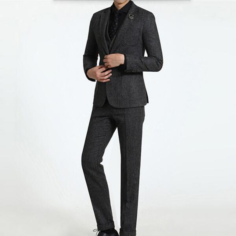 Tailor made wool font b men s b font font b suits b font stylish wedding