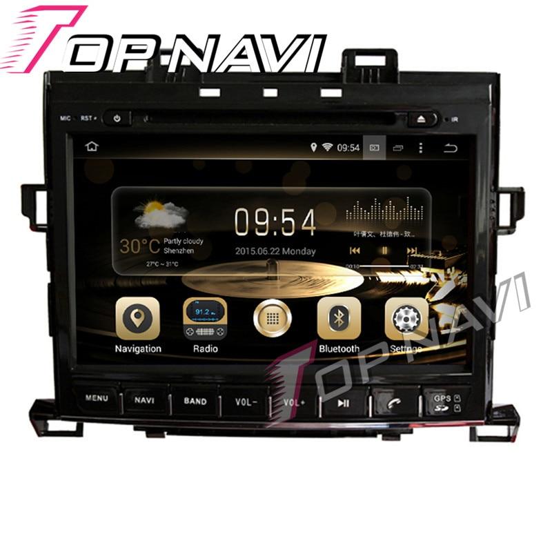 Topnavi 9 ''Octa Core 4 GB + 32G RAM Android 6.0 voiture GPS Navigation pour TOYOTA Alphard 2007-Audio voiture PC lecteur DVD Radio stéréo