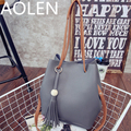Aolen Bags Handbags Women Famous Brands  Baobao Shoulder Leather Handbag Genuine Clutch Big Bag Designer High Quality Female