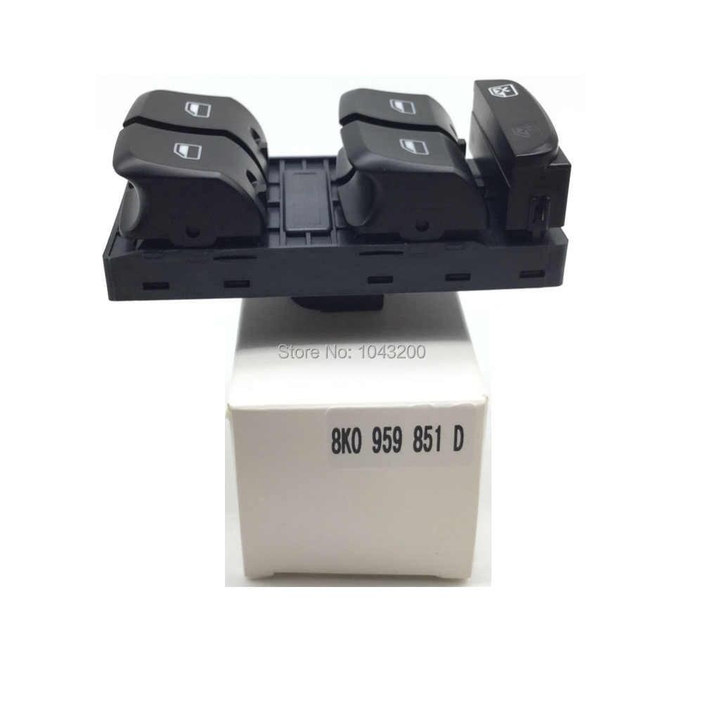 8K0959851D 新電気マスターパワーウインドウスイッチアウディ A4 S4 アウディオールロードクアトロ B8 Q5 A5 OE #8KD959851 8K0 959 851D V10