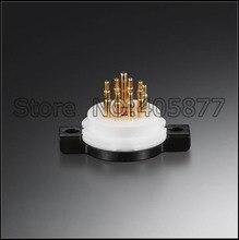 Hi End 2 stks 9 PIN 9 P Buis Socket Vergulde Voor 12AU7 ECC83 12AX7 12AT7 5814