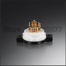 Hi End 2pcs 9 PIN 9P Tube Socket Gold Plated For 12AU7 ECC83 12AX7 12AT7 5814