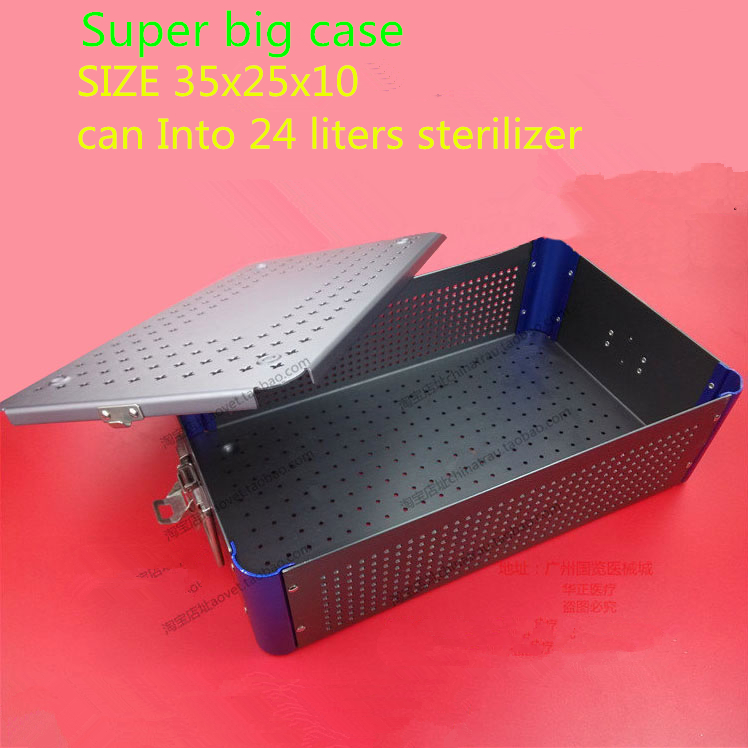 orthopedic Surgery instrument sterilizing box aluminium alloy High temperature pressure collector ventilation sterilizing case