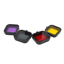 centechia Lens Filter Yellow Red Purple Gray Dive Filters For Gopro Hero4/Hero3+ Action Camera Accessories(China)