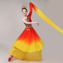 Chinese style hanfu classical dance costumes female new  sleeve gauze traditional chinese costume
