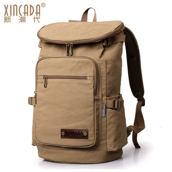 DDB36 Quality Large Capacity Canvas Men Backpack Travel Rucksack Heavy Duty Bag Movement Mountaineering BackPack Molle Backpacks