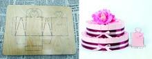 Gift cake box die cutting  & Wooden dies fit Big Shot// Scrabooking   Box