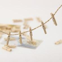 90 шт./компл. с фокусным расстоянием 25 мм Мини Плетеный абажур из натурального дерева для вязания зажимы расходные материалы для офиса зажимы