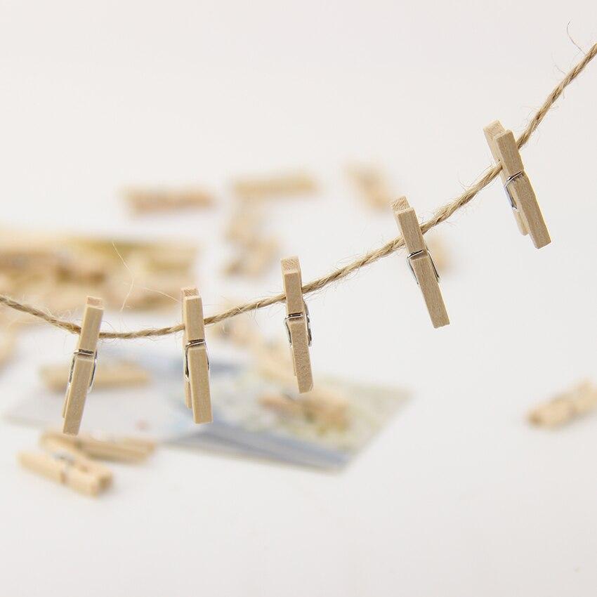 90PCS/set 25MM Mini Natural Wooden Clip Craft Clips Office Binding Supplies Clips