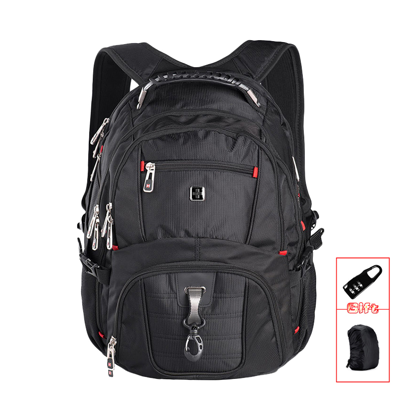 swiss business Laptop backpack sac a dos High quality 15.6  Laptop mens business travel waterproof backpack military bagswiss business Laptop backpack sac a dos High quality 15.6  Laptop mens business travel waterproof backpack military bag