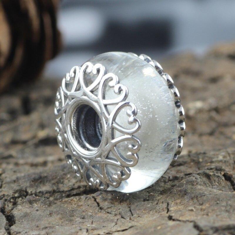 Perles de verre colorées en aluminium 925 breloques en argent Sterling pour femme bricolage européen Original Bracelet Troll et collier cadeau bijoux