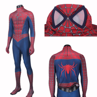 High Quality New Raimi Spiderman Costume Adult Spandex Spiderman Suit Movie Raimi Spiderman Zentai Suit Custom