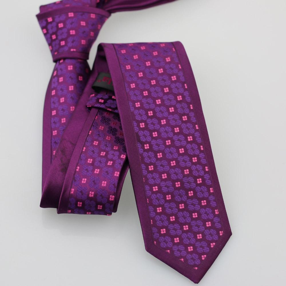 Yibei Coachella Галстуки фиолетовый цветок галстук граничит с Фиолетовый Розовый Florals Галстуки Для Мужчин's Галстуки узкий Moda из микрофибры Свадебные Gravatas