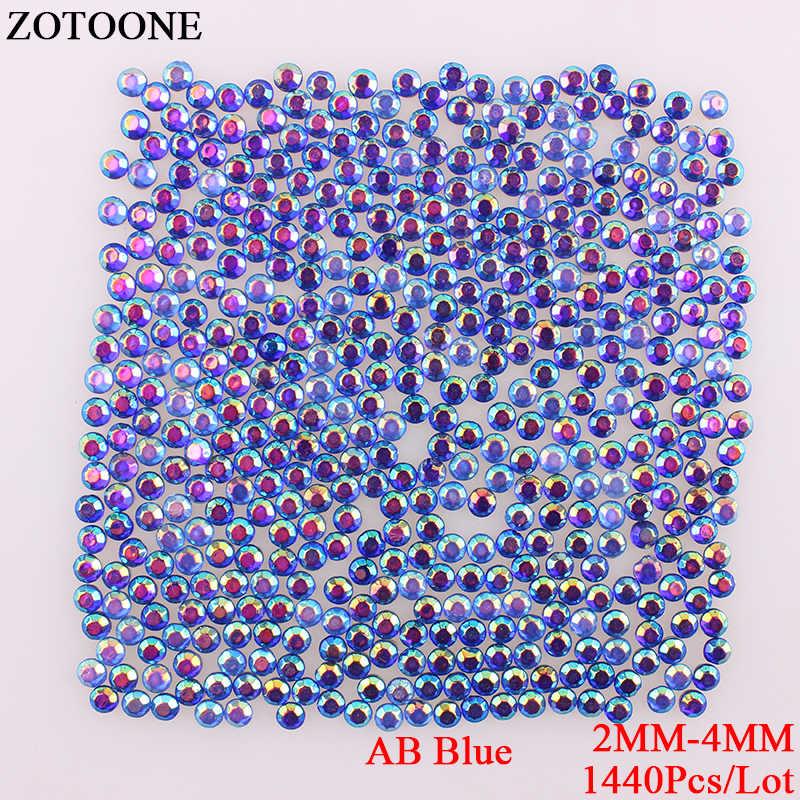 ZOTOONE ABBlue Hotfix Flatback Rhinestones Strass para decoración de uñas apliques hierro sobre diamantes de imitación para decoración de diseños de transferencia de ropa