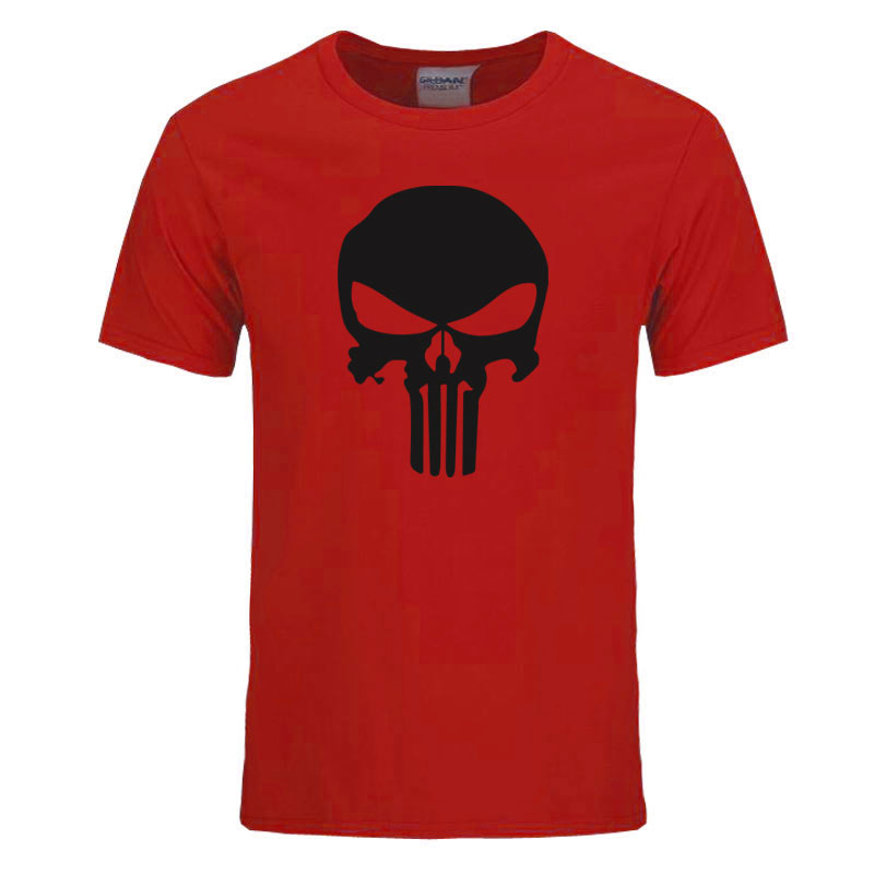 Marvel Avengers Punisher Skull T-Shirt Uomo