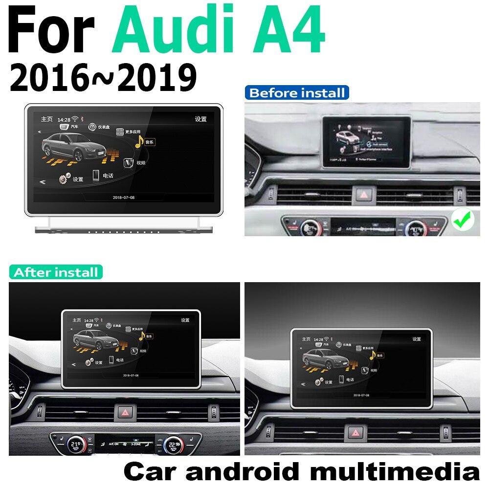 """חלקי חילוף bauknecht 9.33"""" בסגנון המקורי ניווט אנדרואיד 2G RAM עבור אאודי A4 8W 2016 ~ 2019 MMI GPS מסך מגע נגן מולטימדיה סטריאו Autoradio (1)"""