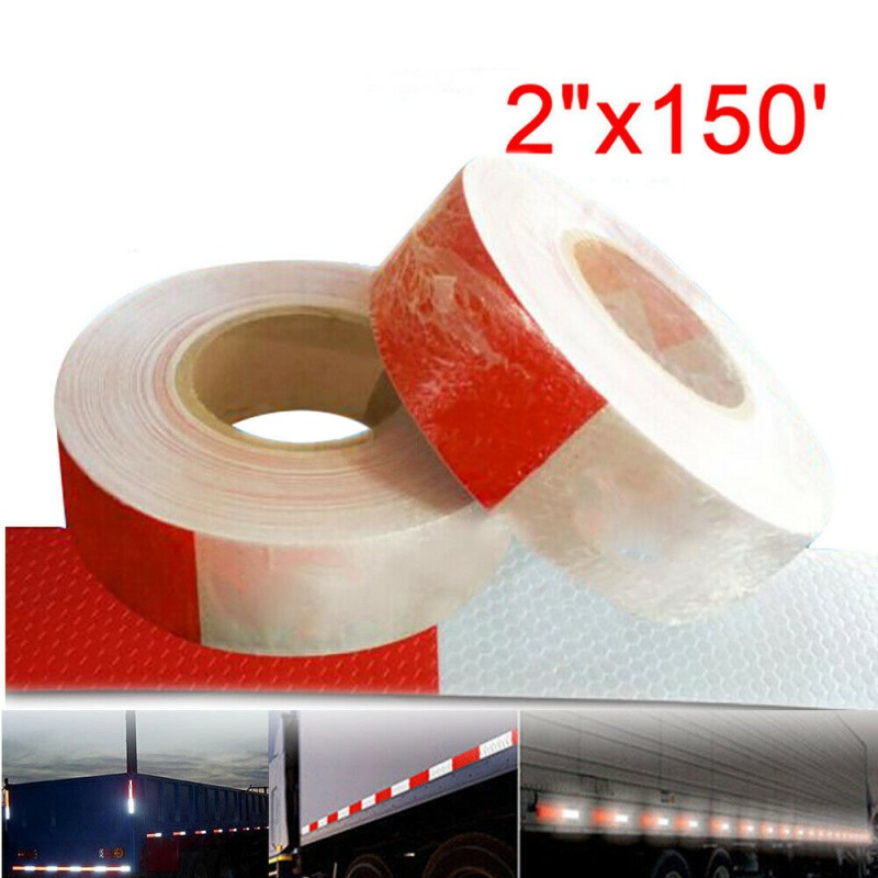 DOT-C2 Truck Reflective Stickers 3C Reflective Warning Tape Truck Truck Compartment Stickers Body Stickers Super Reflective Film
