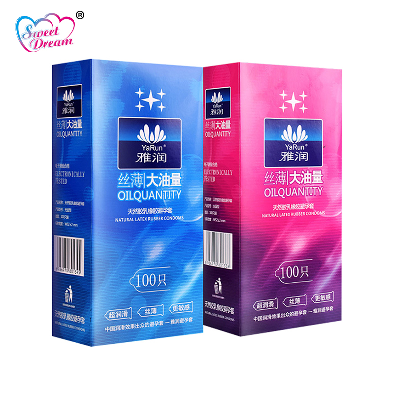 Sweet Dream Life Condoms 100 Pcs/Lot Natural Latex Smooth Lubricated Contraception Condoms for Men Sex Toys Sex Products LF-011(China)
