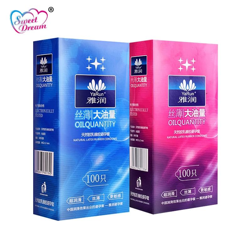 Süße Traum Leben Kondome 100 Pcs/Lot Natürliche Latex Glatte Geschmiert Verhütung Kondome für Männer Sex Spielzeug Sex Produkte LF-011
