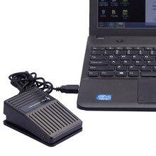 terbaru hitam plastik usb tunggal saklar kaki pedal kontrol keyboard mouse pc permainan