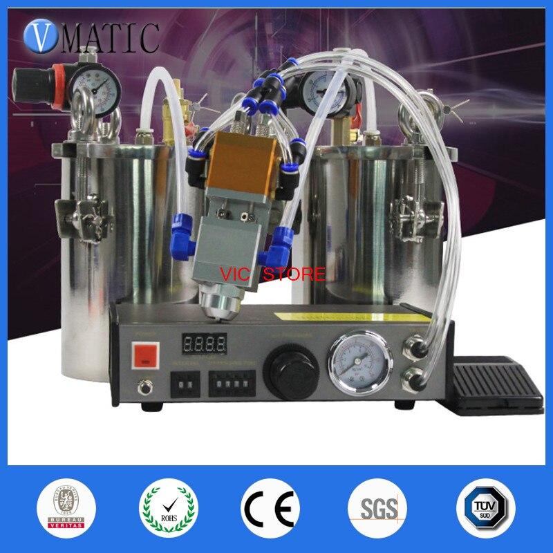 Livraison gratuite UPS FedEx Ab Bicomponent Machine distributeur automatique en acier inoxydable réservoir de pression soupape de distribution