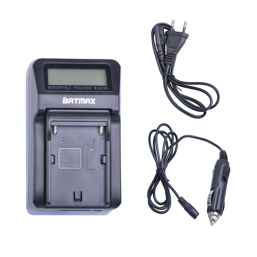 Rapid Digital Battery Charger kits for Sony NP F770 F750 F570 F550 F530 NP F970 F960 F950 F930 FM50 FM500H NP-FM500H durapro 4pcs np f970 np f960 npf960 npf970 battery lcd fast dual charger for sony hvr hd1000 v1j ccd trv26e dcr tr8000 plm a55