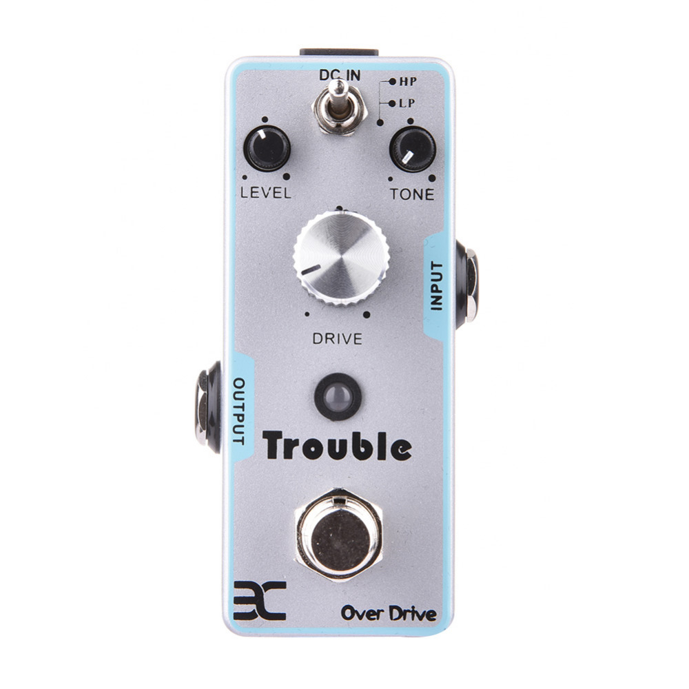EX Guitar Pedal Trouble Over Drive Distortion Timbre Electric Guitar Effect Pedal True Bypass Guitarra Parts & Accessories loop effect pedal 3 way looper switcher guitar effect pedal true bypass electric guitar parts accessories