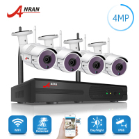 ANRAN Plug Play P2P 1440P HD Wireless 36 IR Security Camera System 4CH 4 0MP WIFI