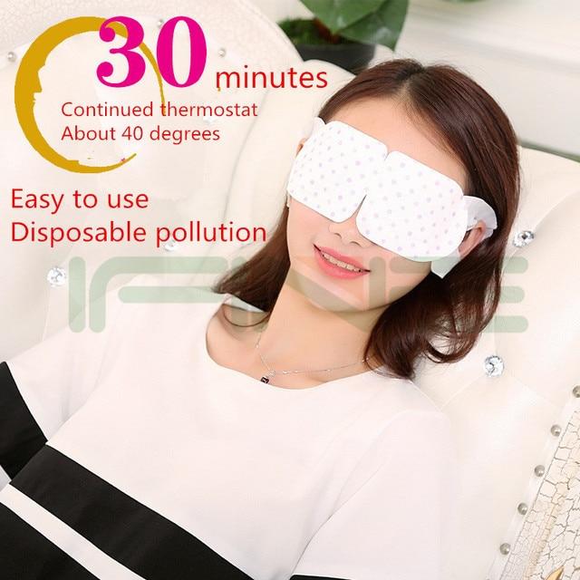 Nuevo Llega Desechables Gafas de Calor de Vapor vapor de aromaterapia Aliviar La Fatiga Del Ojo Del Cuidado Del Ojo Gafas de Sueño Máscara de Ojo ojo de masaje