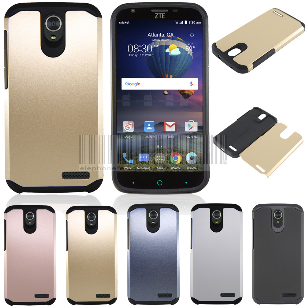 US $6 64 5% OFF|Shipped From US, 2in1 Anti shock Silm Hybied Impact  Protective Hard Armor Case Cover Fundas For ZTE Grand X3 Z959L-in Fitted  Cases