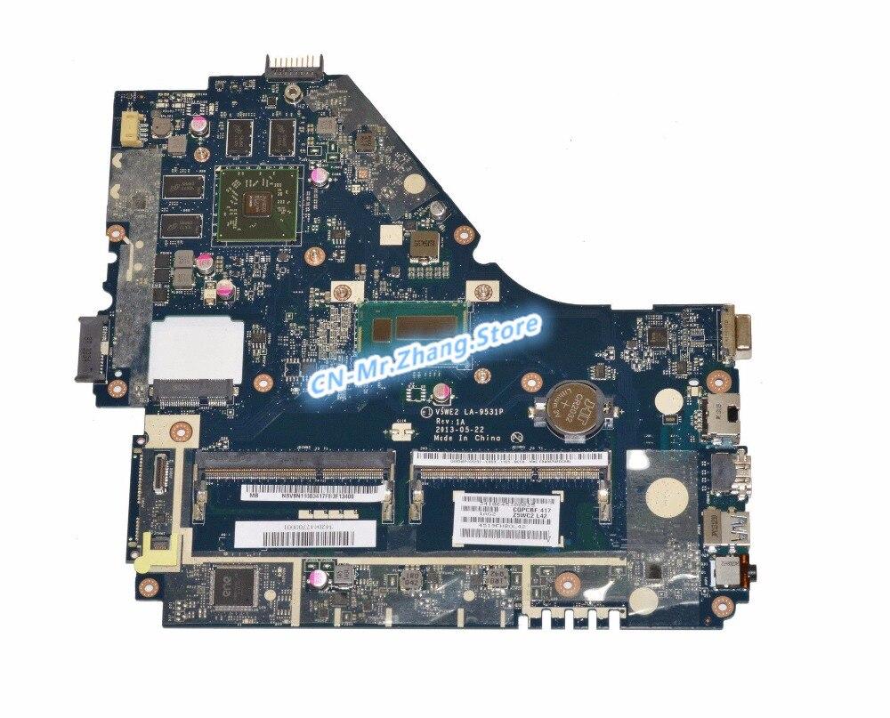 SHELI FOR font b Acer b font Aspire P455 MG Laptop Motherboard W II7 4500U CPU