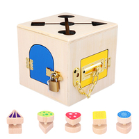 Montessori Toys 3 Years Lock Box Montessori Materials Sensory Toys Educational Wooden Toys For Children Montessori Children Game