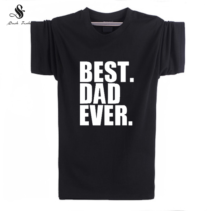 Summer Fashion Day Gift Best Dad Ever Printed Mens T-Shirt For Men Short Sleeve O Neck Casual Top Tee