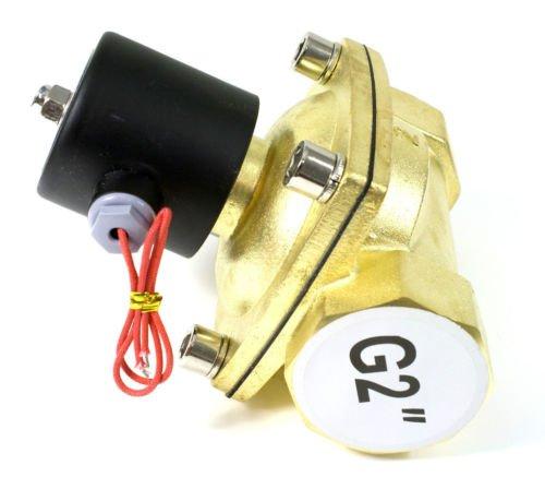 Высокое качество 2 шт. в лоте 50 мм Расход Диаметр g2'' латунь Клапан воды электромагнитный Управление Клапан Модель 2W500-50 напряжение dc24v