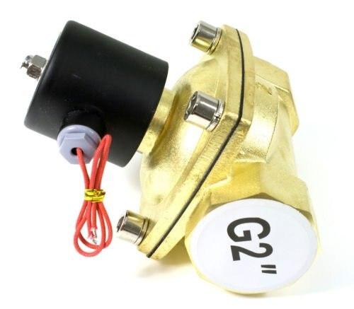 Бесплатная доставка Высокое качество 2 шт. в лоте 50 мм Расход Диаметр g2'' латунь Клапан воды электромагнитный Управление Клапан Модель 2W500 50 н