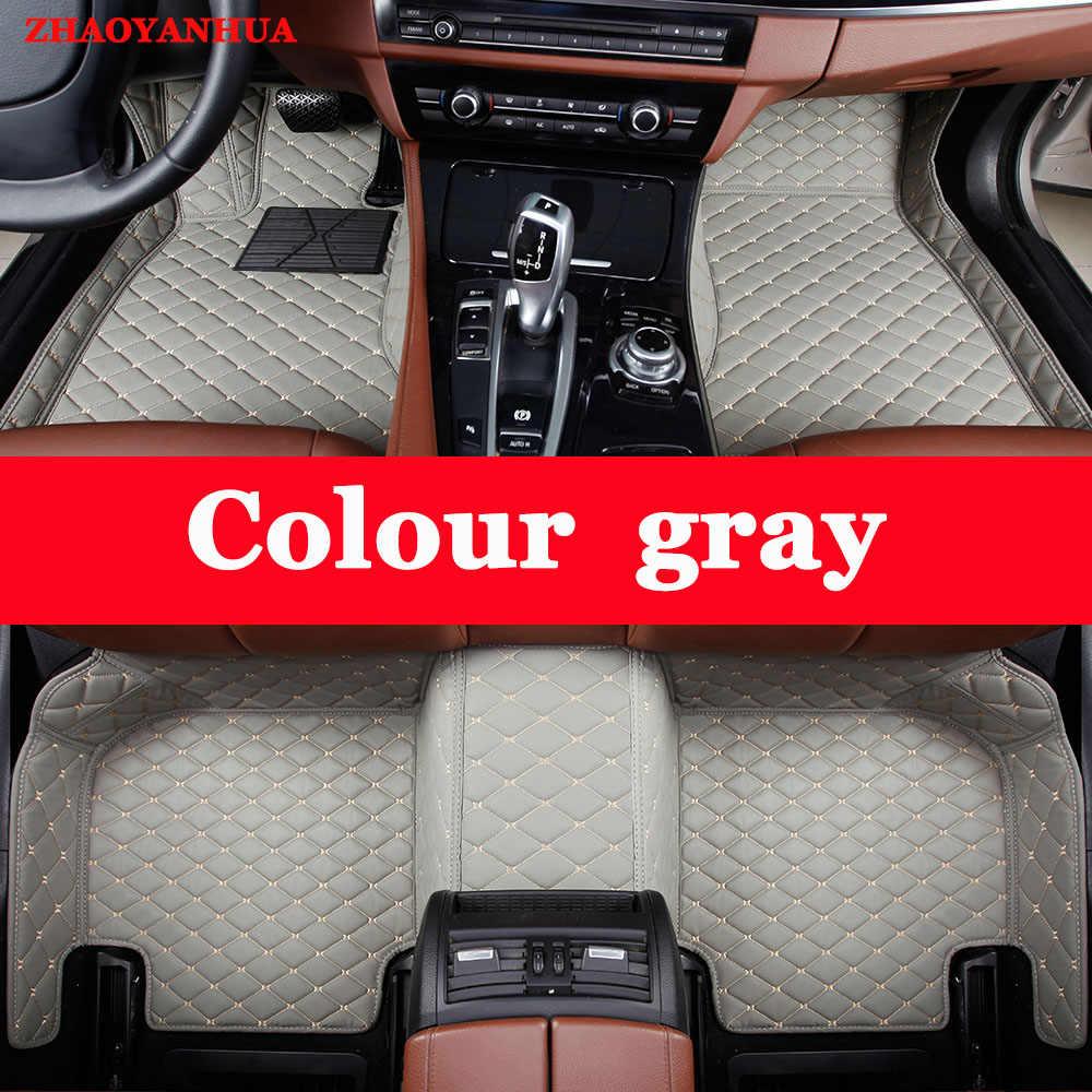 ZHAOYANHUA התאמה אישית שטיחי רצפת מכונית עבור טויוטה לנד קרוזר פראדו 150 120 קורולה קאמרי RAV4 קאמרי שטיח רצפת ספינות