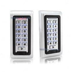 IP68 impermeable al aire libre LED teclado de Metal independiente de control de acceso Wiegand 26 rápida velocidad de funcionamiento de RF de acceso de la puerta de 12V y 24V