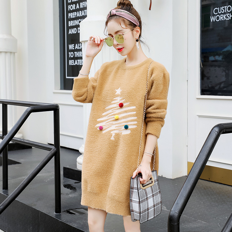 Winter Christmas Sweater For Pregnant Women Sweater Breastfeeding Long Sleeve Knit Top Bottoming Shirt H282 цена