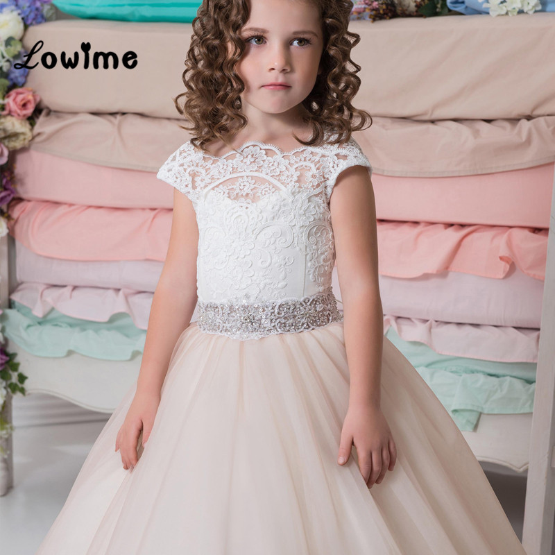 Mint Green Lace Applique   Flower     Girl     Dresses   Vestido Daminha 2018 Kids Evening Pageant Gowns First Communion   Dresses   For   Girls