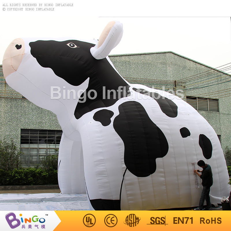 6m wide big inflatable milk cow tent tunnel for Promotion events/event tents 6*6*5M BG-A0983 toy tents inflatable arch for advetising finish line archway for race events 15 6m long bg a0341 toy