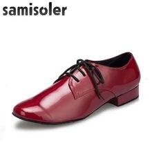 Мужские кожаные туфли samisoler r для бальных танцев на плоской