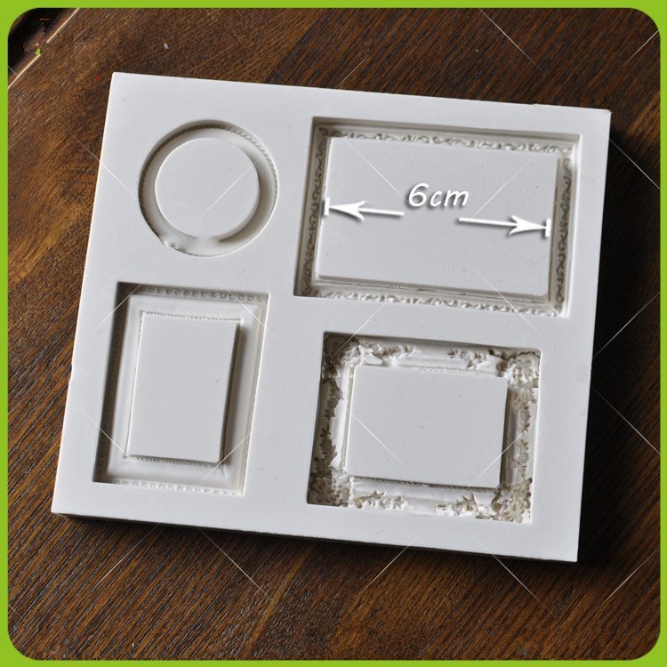 Vintage Mirror Frame Collections Plaque Silicone Mold Fondant Cake ...
