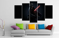 Movie Poster Print 5 Panel HD Printed Oil Paintings Tar Wars The Force Unleashed Wall Art