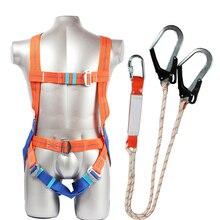 طقم حزام السلامة خمس نقاط نوع حزام أمان النظامية مع خطاف مزدوج عمليات عالية الارتفاع شبك مانع للسقوط حماية المعدات