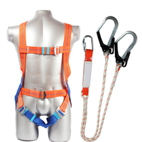 Safety Harness Five point Type Systemic Safety belt with Double hook High altitude operations Fall prevention Protect equipment